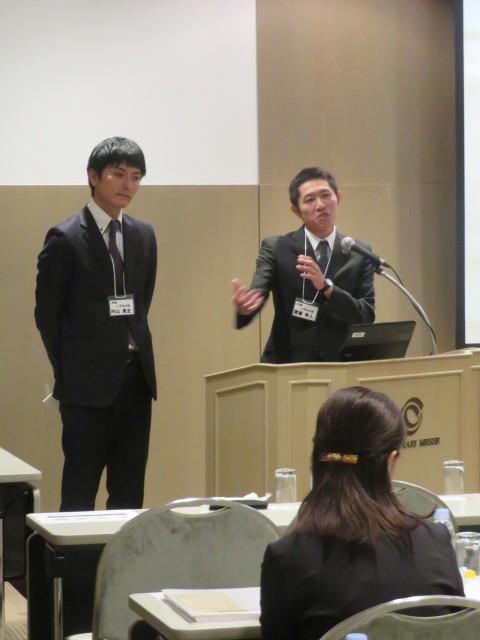 新潟から参加されたPTさんの質問に答える斎藤職員。