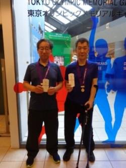 2人並んで金メダル。おめでとう~!